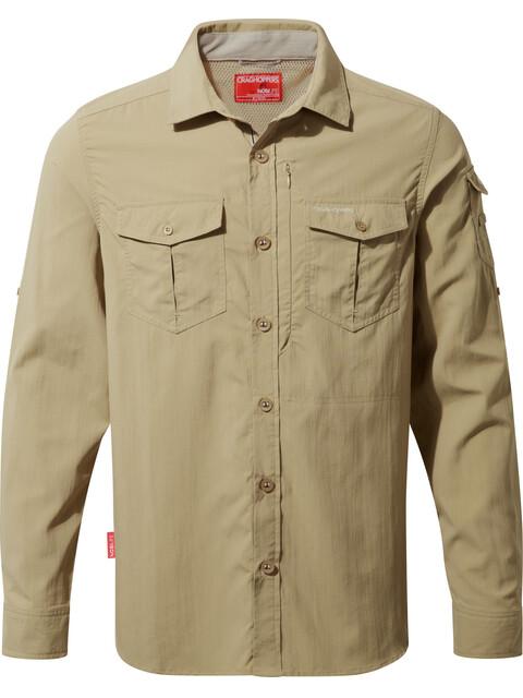 Craghoppers NosiLife Adventure overhemd en blouse lange mouwen Heren beige